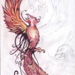 Tatoovorlage Feuervogel